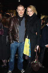 Model JADE PARFITT and TOBY BURGESS at a preview of Lulu Guinness's new Handbag Collection ' Couture' held at Aviva, Baglioni Hotel, 60 Hyde Park Gate, London SW7 on 15th February 2006.<br />