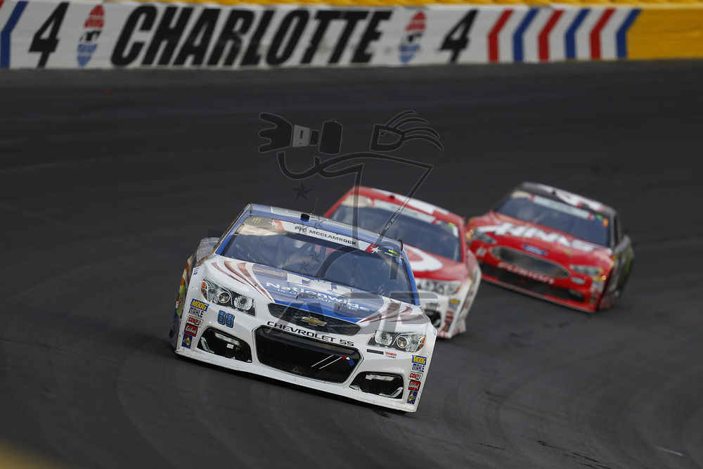 May 28, 2017 - Concord, NC, USA: Dale Earnhardt Jr. (88) battles for position during the Coca Cola 600 at Charlotte Motor Speedway in Concord, NC.