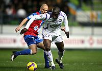 Fotball<br /> Frankrike<br /> Foto: DPPI/Digitalsport<br /> NORWAY ONLY<br /> <br /> FOOTBALL - FRENCH CHAMPIONSHIP 2008/2009 - L1 - SM CAEN v TOULOUSE FC - 04/04/2009 - MOUSSA SISSOKO (TFC) / BENJAMIN NIVET (SMC)