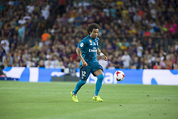 August 13, 2017 - Barcelona, Spain - Marcelo during the match between FC Barcelona - Real Madrid, for the first leg of the Spanish Supercup, held at Camp Nou Stadium on 13th August 2017 in Barcelona, Spain. (Credit: Urbanandsport / NurPhoto) (Credit Image: © Urbanandsport/NurPhoto via ZUMA Press)
