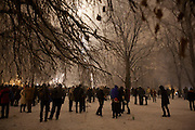 New Year's Eve (December 31) in Belgrade, Serbia. Parliament square and Pionirski Park