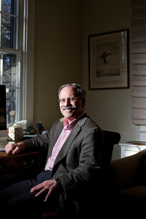 Stuart Taylor, Jr., an author and freelance journalist focusing on legal and policy issues, is shown in his home in Washington, DC. Taylor is also a National Journal contributing editor, Stanford Law School lecturer, practicing lawyer, and nonresident senior fellow at the Brookings Institution.