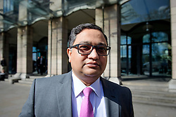 ©  London News Pictures. 28/04/2016. London, UK. BIMLENDRA JHA, CEO of TATA Steel, leaves Portcullis House in London after giving evidence to the Commons Business Committee on the future of British steel. TATA Steel. The future of Tata Steel has been in doubt since it announced it would sell its loss-making UK business. Photo credit: Ben Cawthra/LNP