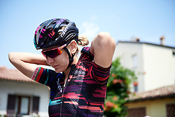 Alena Amialiusik (BLR) before Stage 9 of 2019 Giro Rosa Iccrea, a 125.5 km road race from Gemona to Chiusaforte, Italy on July 13, 2019. Photo by Sean Robinson/velofocus.com