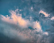 Breaking storm catches the last light of sunset, Jemez Mountains, NM, © 2010 David A. Ponton
