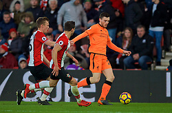 SOUTHAMPTON, ENGLAND - Sunday, February 11, 2018: Liverpool's Andy Robertson during the FA Premier League match between Southampton FC and Liverpool FC at St. Mary's Stadium. (Pic by David Rawcliffe/Propaganda)