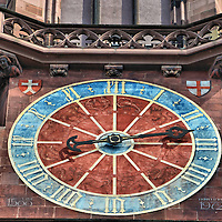 Freiburg Minster Zodiac Clock in Freiburg im Breisgau, Germany <br />