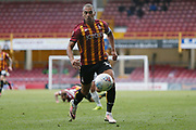 Bradford City's James Vaughan(12) during the EFL Sky Bet League 2 match between Bradford City and Northampton Town at the Utilita Energy Stadium, Bradford, England on 7 September 2019.