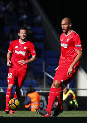 January 20, 2018 - Barcelona, Spain - Steven N'Zonzi during the La Liga match between RCD Espanyol and Sevilla FC played in the RCDEstadium, in Barcelona, on January 20, 2018. Photo: Joan Valls/Urbanandsport/Nurphoto  (Credit Image: © Joan Valls/NurPhoto via ZUMA Press)
