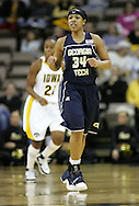 28 NOVEMBER 2007: Georgia Tech guard Iasia Hemingway (34) in the first half of Georgia Tech's 76-57 win over Iowa in the Big Ten/ACC Challenge at Carver-Hawkeye Arena in Iowa City, Iowa on November 28, 2007.