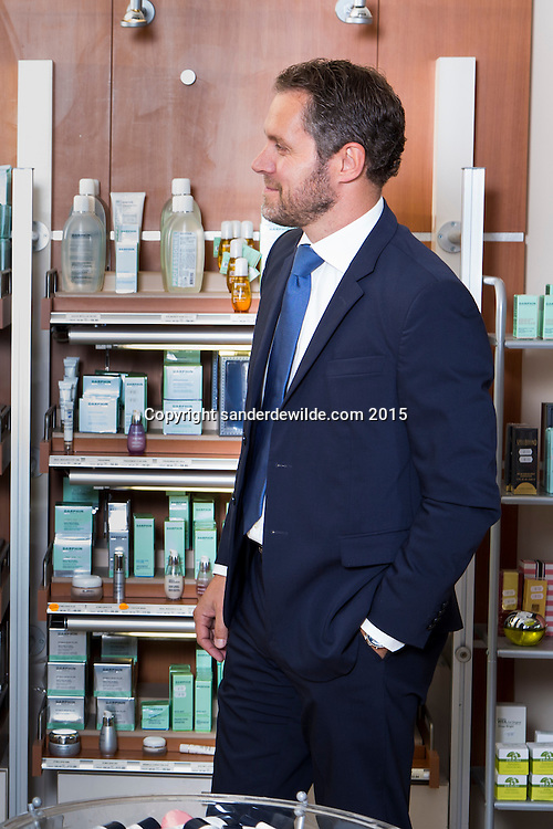 Oevel 27 July 2015 Estee Lauder<br /> Bart Taeymans portrayed at the Estee Lauder Plant in Oevel, Flanders, Belgium.