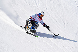 TABERLET Yohann LW12-1 FRA competing in the Para Alpine Skiing Downhill at the PyeongChang2018 Winter Paralympic Games, South Korea