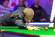 Jack Lisowski makes a confident start during the first session of  the World Snooker 19.com Scottish  Open Final Mark Selby vs Jack Lisowski at the Emirates Arena, Glasgow, Scotland on 15 December 2019.