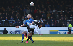 Frazer Blake-Tracy of Peterborough United in action with Ricky Modeste of Dover Athletic - Mandatory by-line: Joe Dent/JMP - 01/12/2019 - FOOTBALL - Weston Homes Stadium - Peterborough, England - Peterborough United v Dover Athletic - Emirates FA Cup second round