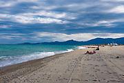 Saint Cyprien plage - beach, Pyrenees Orientales, France