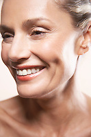 Beauty portrait of mature woman smiling