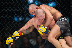 April 28, 2018 - GöTeborg, SVERIGE - 180428 Rafael Macedo och Perry Goodwin under MMA-galan Cage Warriors 93 den 28 april 2018 i Göteborg  (Credit Image: © Mathias Bergeld/Bildbyran via ZUMA Press)