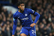 Chelsea defender Reece James in action during the Premier League match between Chelsea and Manchester United at Stamford Bridge, London, England on 17 February 2020.