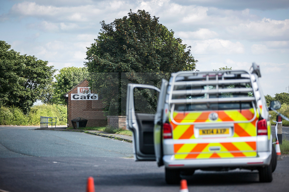 "© Licensed to London News Pictures. 09/07/2015. York, UK. Police are investigating an alleged sexual assault near York. Officers have cordoned off a lay by off the A1079 in Dunnington where the incident, described by police as a ""serious sexual assault"", allegedly took place. No further details have yet been released, and a spokeswoman for North Yorkshire Police said enquiries were ongoing. Photo credit : Andrew McCaren/LNP"