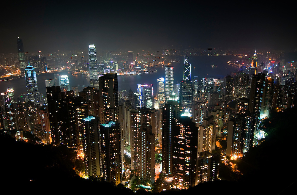 CHINA (Hong Kong). 2009. Hong Kong´s night view prom The Peak.
