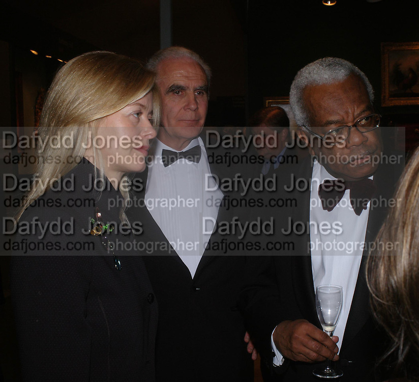 Lady Helen Taylor, John Sabin and Sir Trevor Macdonald. .. BADA Antiques &amp; Fine Art Fair - gala evening <br />