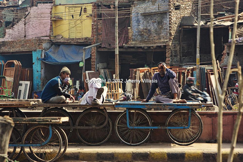 Street scene in New Delhi, India
