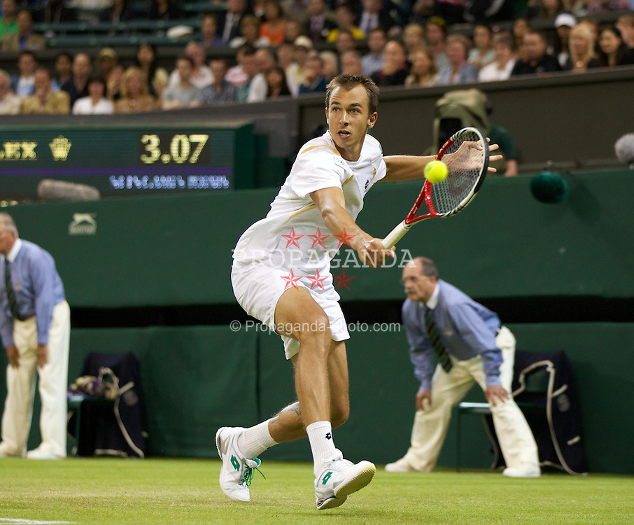 LONDON, ENGLAND - Thursday, June 28, 2012: Lukas Rosol (CZE) during the Gentlemen's Singles 2nd Round  match on day four of the Wimbledon Lawn Tennis Championships at the All England Lawn Tennis and Croquet Club. (Pic by David Rawcliffe/Propaganda)