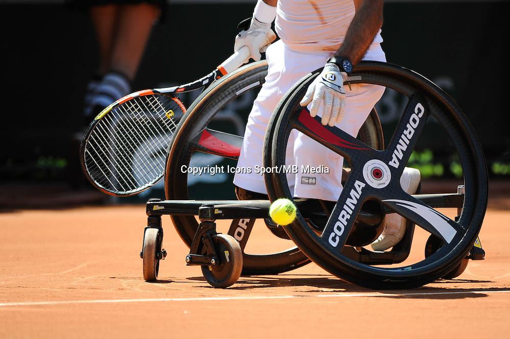 Illustration Tennis Fauteuil  - 04.06.2015 - Jour 12 - Roland Garros 2015 <br />Photo : Nolwen Le Gouic / Icon Sport