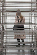 Fit 2016 - Antony Gormley, Fit, a new exhibition of work in the South Galleries of White Cube Bermondsey. The piece is divided into 15 discrete chambers to create a series of dramatic physiological encounters in the form of a labyrinth.