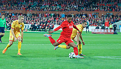 ADELAIDE, AUSTRALIA - Monday, July 20, 2015: Liverpool's Jordon Ibe in action against Adelaide United during a preseason friendly match at the Adelaide Oval on day eight of the club's preseason tour. (Pic by David Rawcliffe/Propaganda)