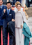10-5-2017 OSLO NORWAY Lunch on the Royal Yacht, Norge. Photo opportunity as the Yacht leaves Honn&oslash;rbrygga, the quayside in front of the City Hall. King Harald and Queen Sonja Prince Haakon and Crown Princess Mette-Marit Princess M&auml;rtha Louise Princess Astrid H.M. Queen Margrethe II  Crown Prince Frederik and Crown Princess Mary Prince Joachim and Princess Marie  King Carl XVI Gustaf and Queen Silvia Crown Princess Victoria and Prince Daniel Prince Carl Philip and Princess Sofia<br /> Grand Duke Herri and and Grand Duchess Maria-Teresa Archduke Duke Guillaume and Arvestor Duchess St&eacute;phanie H.F.H. First Albert II King Willem-Alexander and Queen Maxima Princess Beatrix of the Netherlands  Princess Mabel of Oranje-Nassau King Philippe and Queen Mathilde  COPYRIGHT ROBIN UTRECHT <br /> <br /> 10-5-2017 OSLO NOORWEGEN Lunch op het Royal Yacht, Norge. Foto mogelijkheid als het Jacht vertrekt Honn&oslash;rbrygga, de kade voor het stadshuis. Koning Harald en Koningin Sonja Prins Haakon en Kroonprinses Mette-Marit Prinses M&auml;rtha Louise Prinses Astrid H.M. Koningin Margrethe II Kroonprins Frederik en Kroonprinses Mary Prins Joachim en Prinses Marie Koning Carl XVI Gustaf en Koningin Silvia Kroonprinses Victoria en Prins Daniel Prins Carl Philip en Prinses Sofia<br /> Groothertog Herri en Groot Hertogin Maria-Teresa Aartshertog Duke Guillaume en Arvestor Duchess St&eacute;phanie H.F.H. Eerste Albert II Koning Willem-Alexander en Koningin Maxima Prinses Beatrix van de Nederlandse Prinses Mabel van Oranje-Nassau Koning Philippe en Koningin Mathilde COPYRIGHT ROBIN UTRECHT