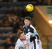 Dundee&rsquo;s Darren O&rsquo;Dea and Ross County&rsquo;s Craig Curran - Dundee v Ross County in the Ladbrokes Scottish Premiership at Dens Park, Dundee. Photo: David Young<br /> <br />  - &copy; David Young - www.davidyoungphoto.co.uk - email: davidyoungphoto@gmail.com