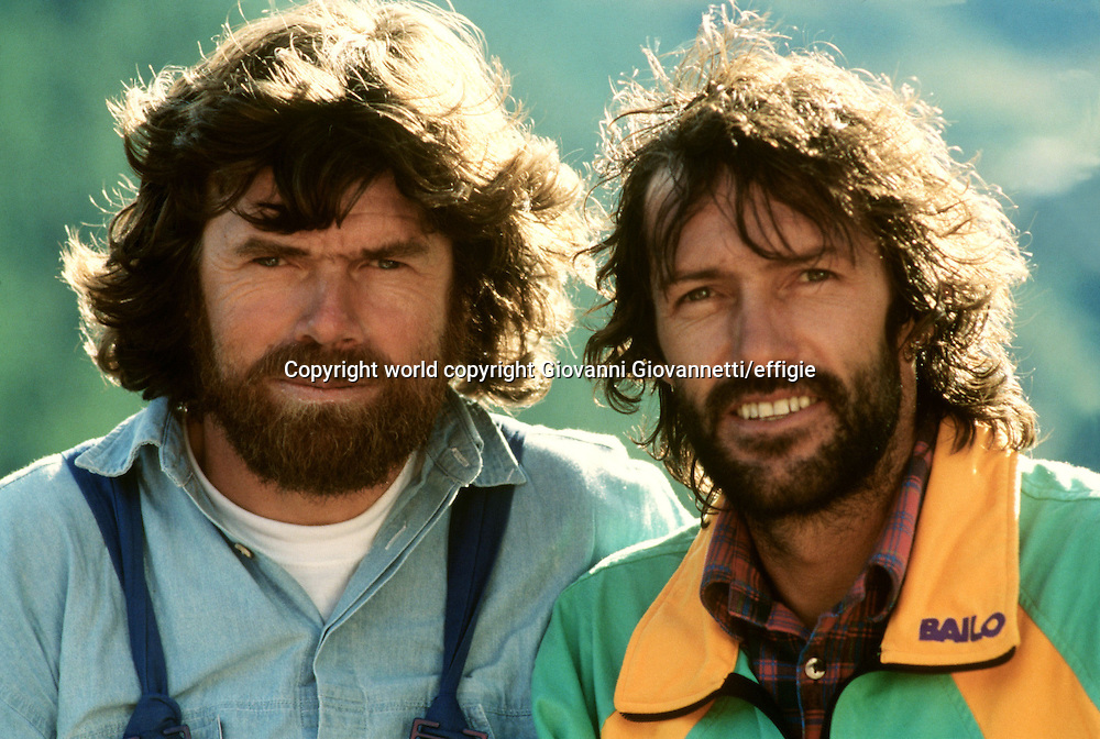 Reinhold Messner, Hans Kammerlander<br />world copyright Giovanni Giovannetti/effigie