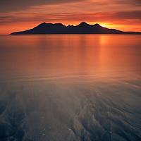 Isle of Rum from Laig Bay, Isle of Eigg.