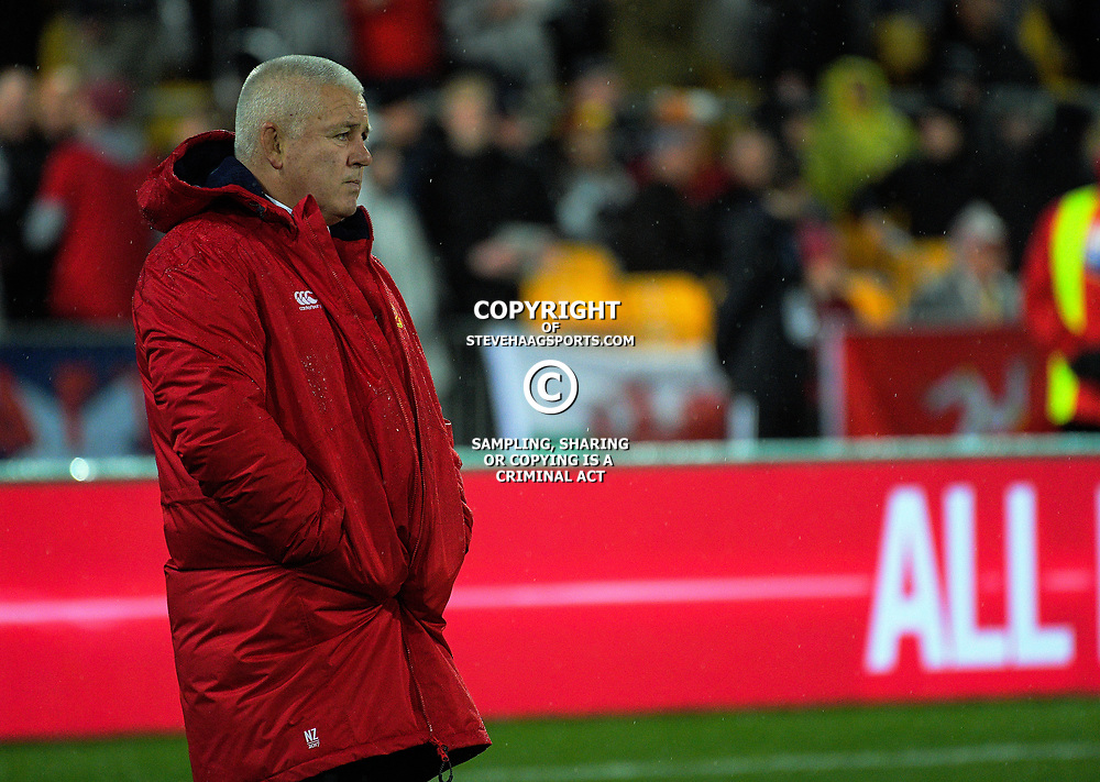 Lions coach Warren Gatland during the 2017 DHL Lions Series 2nd test rugby match between the NZ All Blacks and British & Irish Lions at Westpac Stadium in Wellington, New Zealand on Saturday, 1 July 2017. Photo: Dave Lintott / lintottphoto.co.nz