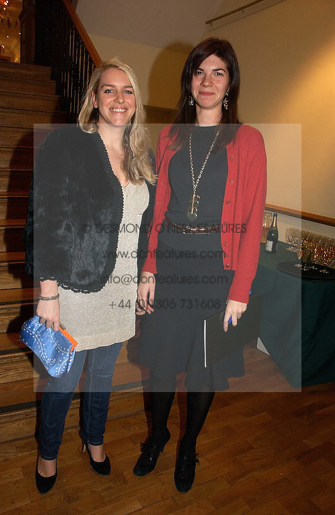 Left to right, LAURA LOPES and her sister in law LORNA LOPES at an auction in aid of The Game Conservancy Trust held at Christie's, St.James's London on 12th December 2006.<br />
