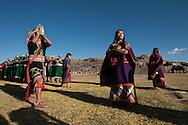 Inty Raymi. Third act. Archaeological site of Sachsayuaman. PERU