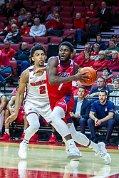 NORMAL, IL - December 18: Marcus Ottey turns the corner on Zach Copeland during a college basketball game between the ISU Redbirds and the UIC Flames on December 18 2019 at Redbird Arena in Normal, IL. (Photo by Alan Look)