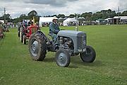 Vintage tractor display, Suffolk Smallholders annual show, Stonham Barns, Suffolk, England, July 2008