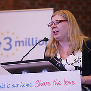 London, UK, 13th September 2017. Speaker Alison Roche, Mass lobby statements of support from a cross-party group of MPs , Hosts by British in Europe and the3million and partners talk about the campaign and the importance of guaranteeing citizens' rights. at Emmanuel Centre.