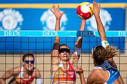 25-08-2019 NED: DELA NK Beach Volleyball, Scheveningen<br /> Last day NK Beachvolleyball / Marloes Wesselink