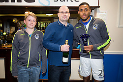 Man of the match presentation to Cristian Montano of Bristol Rovers - Rogan Thomson/JMP - 01/11/2016 - FOOTBALL - Memorial Stadium - Bristol, England - Bristol Rovers v Fleetwood Town - Sky Bet League One.
