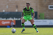 Forest Green Rovers Charlie Cooper(15) on the ball during the EFL Sky Bet League 2 match between Forest Green Rovers and Grimsby Town FC at the New Lawn, Forest Green, United Kingdom on 5 May 2018. Picture by Shane Healey.