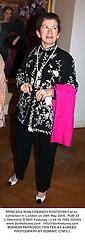 PRINCESS NINA LOBANOV-ROSTOVSKY at an exhibition in London on 26th May 2004.PUM 23