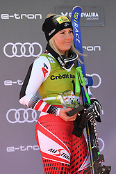 March 14, 2019 - ANDORRA - Tamara Tippler (AUT) in Podium Ladies Super Giant of Audi FIS Ski World Cup Finals 18/19 on March 14, 2019 in Grandvalira Soldeu/El Tarter, Andorra. (Credit Image: © AFP7 via ZUMA Wire)