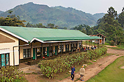 The Bwindi Community Hospital in Buhoma village on the edge of the Bwindi Impenetrable Forest in Western Uganda. It serves around 250,000 people from the surrounding area.