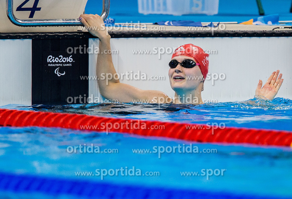 Hannah Russell of Great Britain celebrates after winning in the Swimming Women's 50m Freestyle - S12 Final during Day 10 of the Rio 2016 Summer Paralympics Games on September 17, 2016 in Olympic Aquatic Stadium, Rio de Janeiro, Brazil. Photo by Vid Ponikvar / Sportida