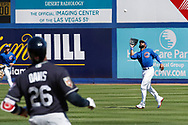 March 18, 2018 - Las Vegas, NV, U.S. - LAS VEGAS, NV - MARCH 18: Jason Heyward (22) of the Cubs catches a fly ball off the bat of Rajai Davis (26) of the Indians during a game between the Chicago Cubs and Cleveland Indians as part of Big League Weekend on March 18, 2018 at Cashman Field in Las Vegas, Nevada. (Photo by Jeff Speer/Icon Sportswire) (Credit Image: © Jeff Speer/Icon SMI via ZUMA Press)