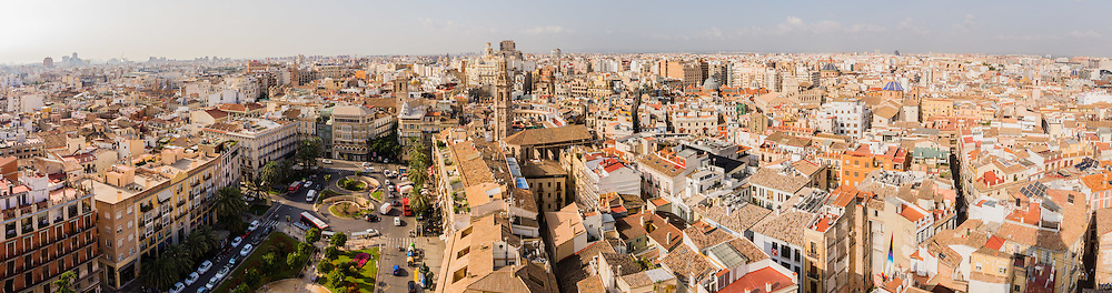 The city of Valencia from the El Miguelete Bell Tower, Valencia, Spain
