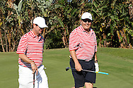 Rod tucker and Marais Erasmus during the Airtel CLT20 golf day held at Zimbali Country Estate outside Durban in Kwa Zulu Natal on the 23 September 2010..Photo by: Ron Gaunt/SPORTZPICS/CLT20